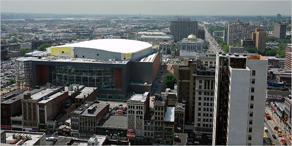 Newark's Prudential Center. Source: NY Times