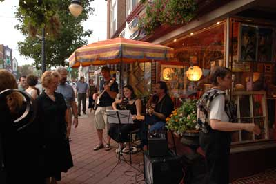 Downtown Millville during their monthly Third Friday event. Source: NJSLOM