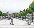 A rendering shows Byram Village Center in Byram Township.