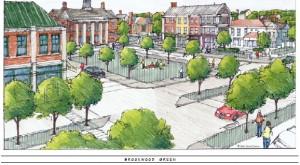 A rendering showing Brookwood Green at Byram Village Center in Byram Township.