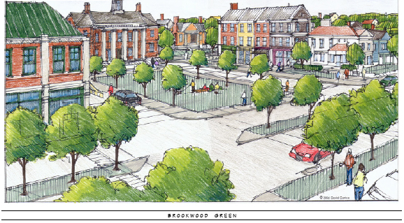 A rendering showing Brookwood Green at Byram Village Center in Byram Township.