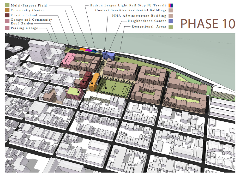 Site Plan Showing New Vision For Low Income Housing And Neighborhood  Redevelopment Envisioned By The