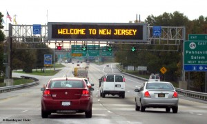 welcome to new jersey traffic sign