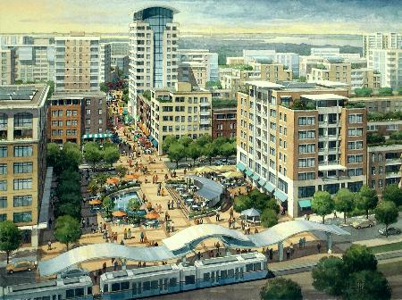 Rendering of the proposed Bayfront Redevelopment. Source: Jersey City Redevelopment Agency