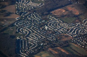aerial of Suburban sprawl in New Jersey. -RebeccaWilson