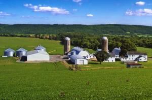 A farmstead in Franklin Township
