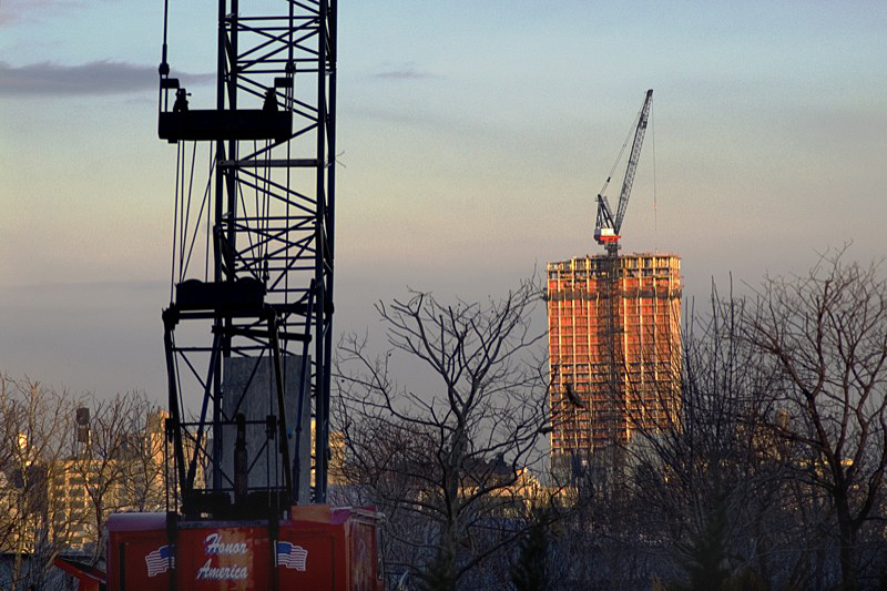 Construction in Jersey City.