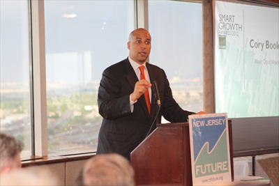 Mayor Cory Booker welcomes attendees to Newark
