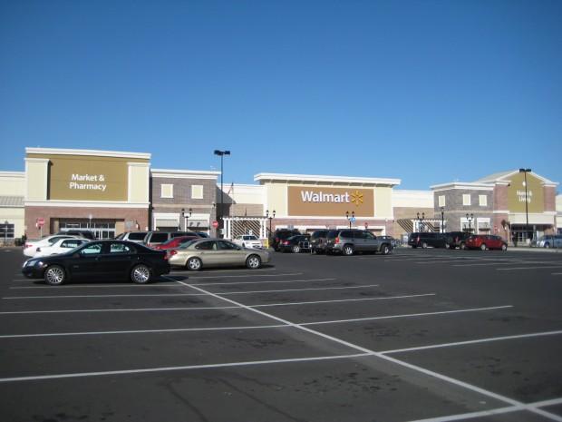 Cooper Towne Center WalMart facade detailing