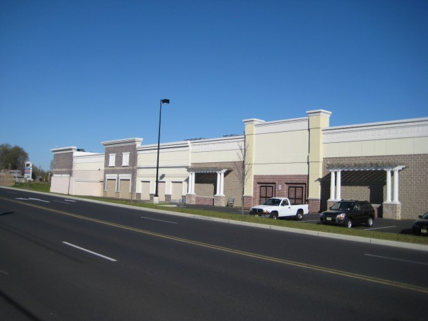 Cooper Towne Center WalMart side facade detailing
