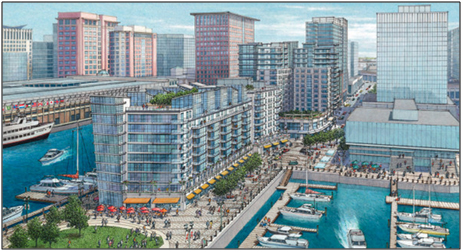 Rendering of the Innovation District along the South Boston waterfront. Source: Seaport District