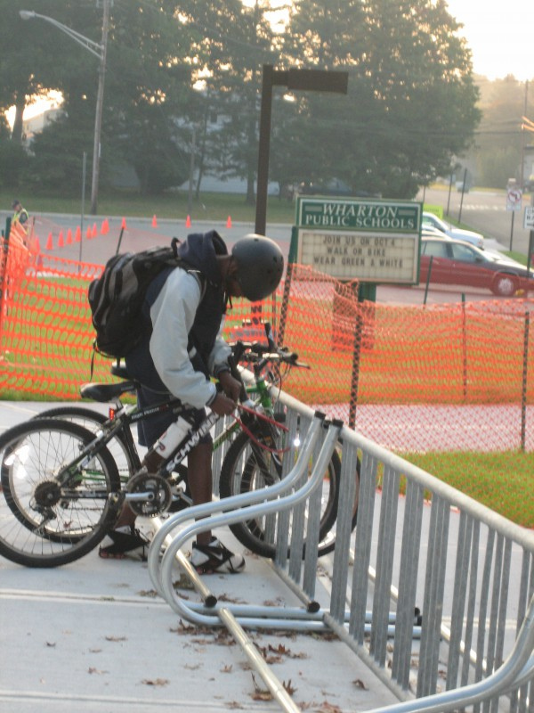 Bike racks at school
