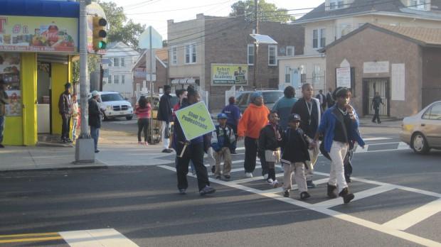Walking to school in Newark