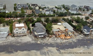 Sandy aerial view slideshow