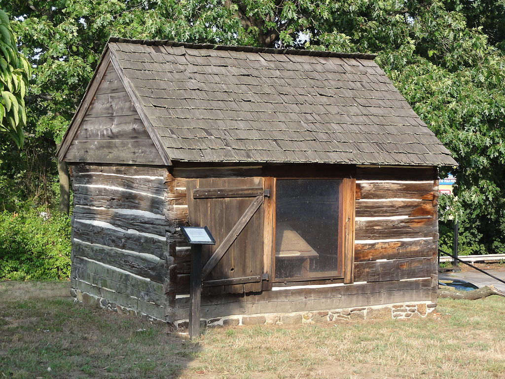 The Mortonson Van Leer Cabin in Swedesboro, N.J., reputed to have been a stop on the Underground Railroad.
