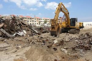 Sandy rebuilding