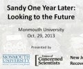 Sandy One Year Later: Looking to the Future
