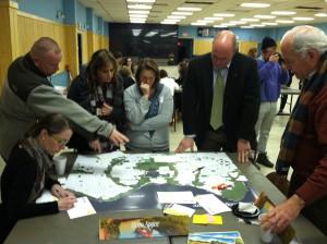 Attendees at Rebuild by Design's Raritan Bay workshop.