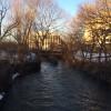 The Assunpink Creek approaching the South Broad Street Bridge. (Credit: New Jersey Future)