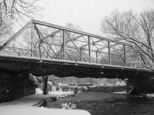 Jackson Street Bridge in the winter. Photo courtesy of Amanda Seelig.