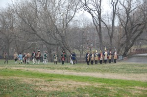 Battle of Trenton reenactment in Mill Hill Park (adjacent to Jackson Street Bridge). Photo courtesy of Amanda Seelig.