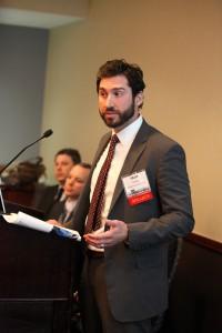 Matt Testa from Bijou Properties in Hoboken speaking at the Redevelopment Forum