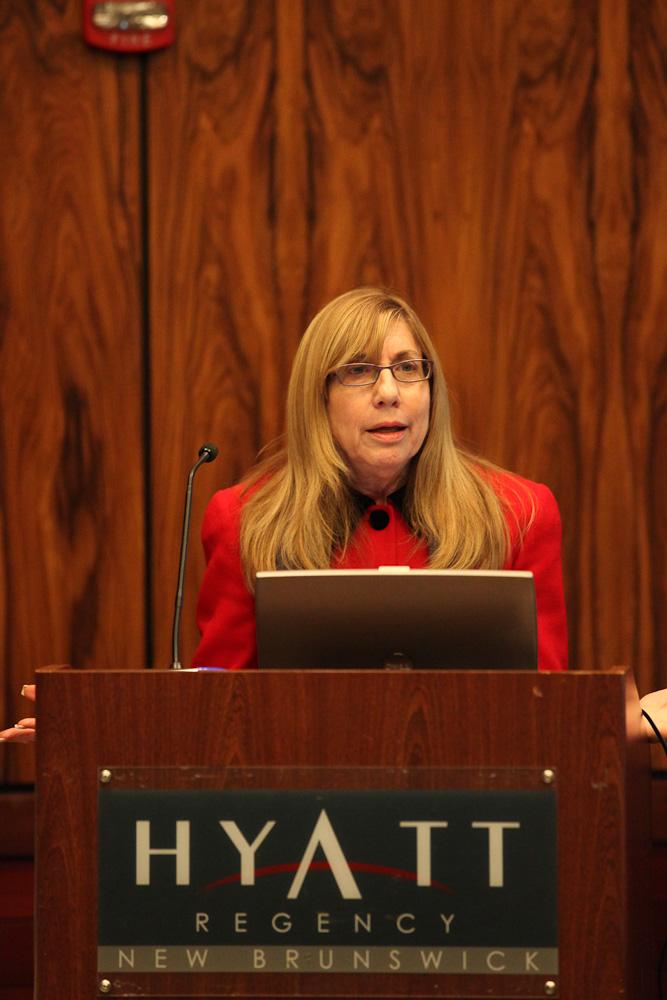 Woodbridge Township Chief of Staff Caroline Ehrlich addresses a Redevelopment Forum session.