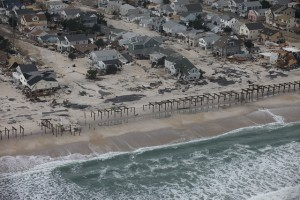 Damaged homes along the Jersey Shore (Courtesy of Greg Thompson, USFWS)
