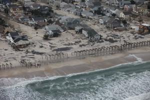 Damaged homes along the Jersey Shore (Courtesy of Greg Thompson, USFWS)