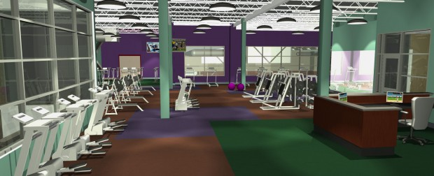 Fitness Room Rendering - Kroc Community Center