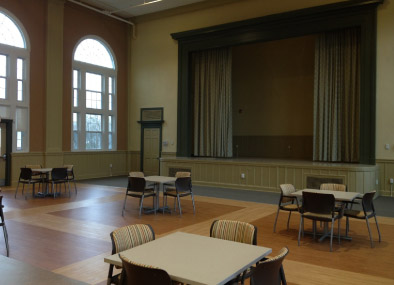 Renovated Community Room within historic building