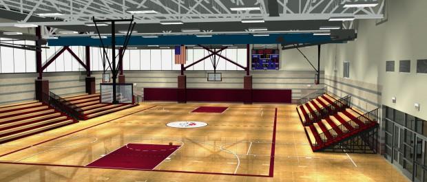 Gymnasium Rendering - Kroc Community Center