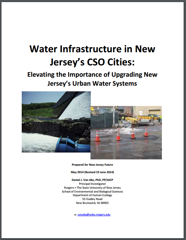 dep stormwater brochure urban water infrastructure new jersey future