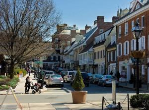 Palmer Square in Princeton. Photo by Dan Komoda Photography via Wikimedia
