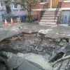 Crumbling water infrastructure in Hoboken.