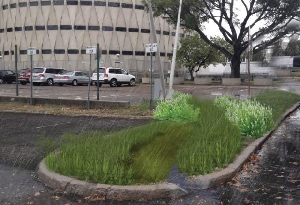 parking lot pervious pavement