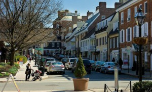 Palmer Square in Princeton. The town is the first in New Jersey to receive the World Health Organization's Age-Friendly designation.