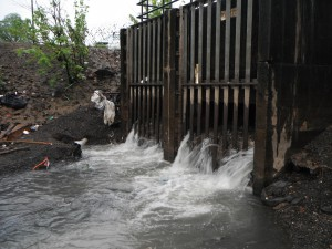 A combined-sewer outfall in Paterson.