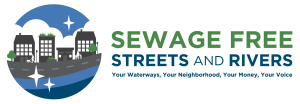 Sewage-Free Streets and Rivers logo