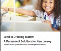 JWW Lead Report cover showing child turning faucet on