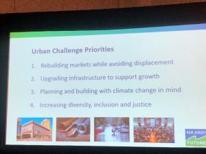 Powerpoint slide: Urban challenge Priorities