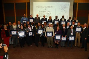 Representatives from each of the Transit Villages were honored at the celebration