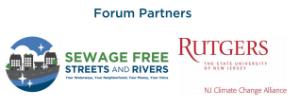 Logos: Sewage-Free NJ and Rutgers Climate Change Alliance