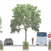 Green streets are pedestrian-friendly alternatives to traditional streets. See the toolkit for a side-by-side comparison of green and traditional streets. Graphic designed by E&LP for NJF.