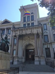 This summer, the Colombian flag was raised at City Hall in Jersey City. The city held flag raising ceremonies to celebrate the independence of several Latin American countries.